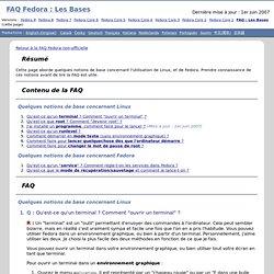 FAQ Fedora : Les Bases