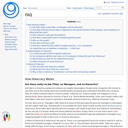 FAQ - Holacracy Wiki