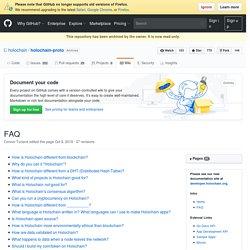 FAQ · holochain/holochain-proto Wiki
