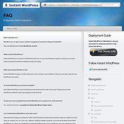 WordPress instantanée