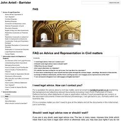 FAQ - John Antell - Barrister