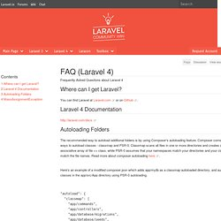 FAQ (Laravel 4) - Laravel wiki
