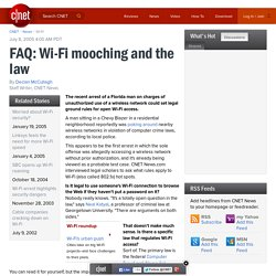 FAQ: Wi-Fi mooching and the law