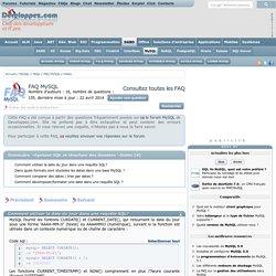 FAQ MySQL, le club des développeurs et IT Pro