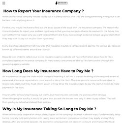 HOW TO REPORT MY INSURANCE COMPANY