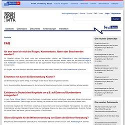 FAQ | Offene Daten Berlin