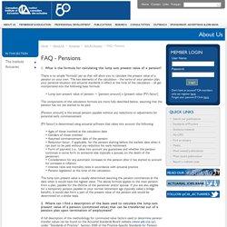FAQ - Pensions