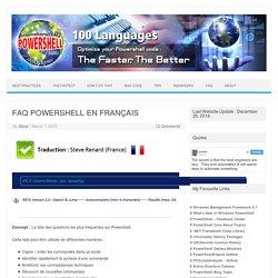 FAQ POWERSHELL EN FRANÇAIS