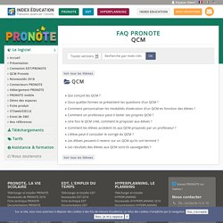FAQ PRONOTE - QCM