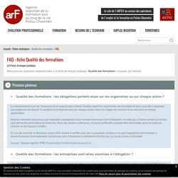 FAQ : Qualité des formations