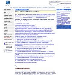 FAQ sur la recherche d'information sur le Web