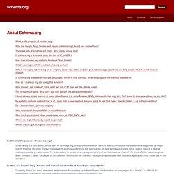 FAQ - schema.org