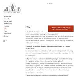 FAQ — Seekircher Steel Window