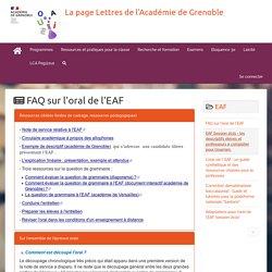 La page Lettres de l'Académie de Grenoble