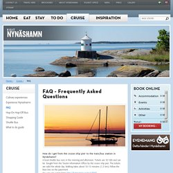 FAQ - Visit Nynäshamn