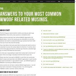 FAQ - WWOOF