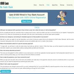 FAQs- 1000 Loan No Credit Check