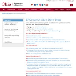 FAQs about Ohio State Tests