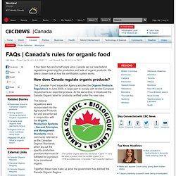 Canada's rules for organic food - Canada