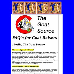 FAQS For Goat Owners