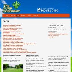 Turf Company Faqs