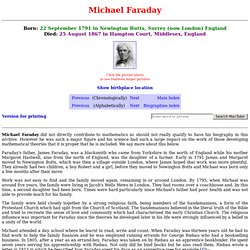 Biographie Faraday