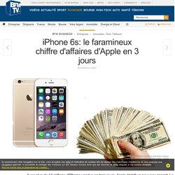 L'iPhone 6s: chiffre d'affaire en 3 jours qui dépasse le milliards