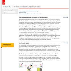 Adobe Acrobat XI * Farbmanagement für Dokumente