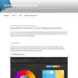 Farbpaletten-Tools für Gelegenheits-Designer