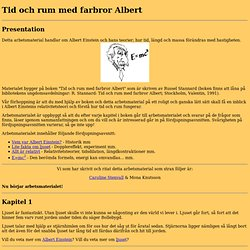Tid och rum med farbror Albert - ett arbetsmaterial