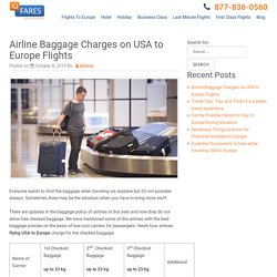 IQ FARES: Best Deals on Flights From USA to Europe