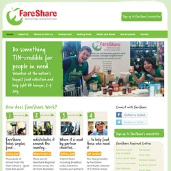 FareShare | Fighting hunger, tackling food waste