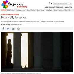 Farewell, America - BillMoyers.com