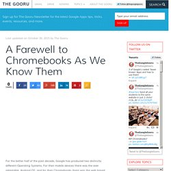 A Farewell to Chromebooks As We Know Them