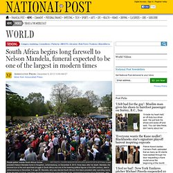 South Africa begins long farewell to Nelson Mandela, funeral expected to be one of the largest in modern times