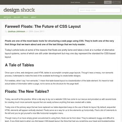 Farewell Floats: The Future of CSS Layout