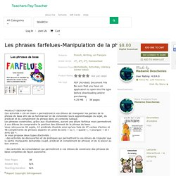 Les phrases farfelues-Manipulation de la... by Madame Deschenes