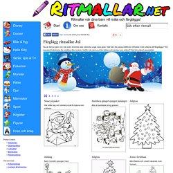 Färglägg Jul - Ritmallar.net