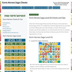 Farm Heroes Saga Level 65 Cheats and Tips - Farm Heroes Saga Cheats