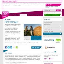 Farm manager job information