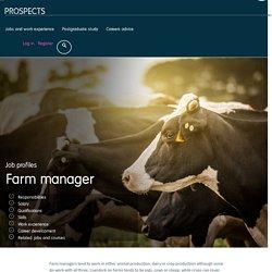 Farm manager job profile
