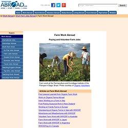Farm Work Abroad