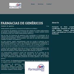 FARMACIAS DE GENÉRICOS - Farmacia en linea