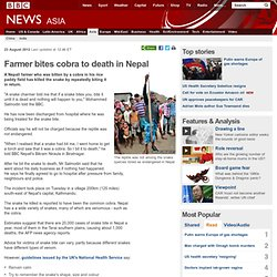 Farmer bites cobra to death in Nepal