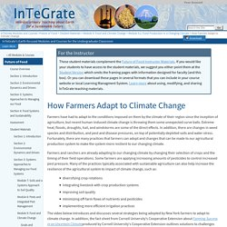 #2 How Farmers Adapt to Climate Change