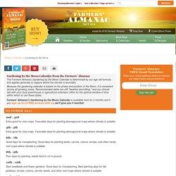 Farmers' Almanac Gardening Calendar