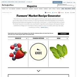 Farmers' Market Recipe Generator