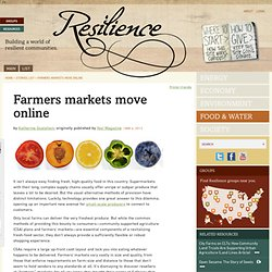 Farmers markets move online