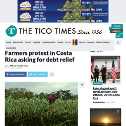 Farmers protest in Costa Rica asking for debt relief – The Tico Times