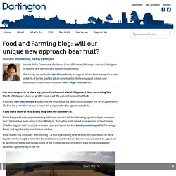 DARTINGTON 16/12/16 Food and Farming blog: Will our unique new approach bear fruit? (agroforesterie)
